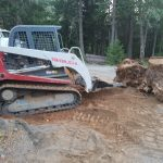 stump bucket on Takeuchi