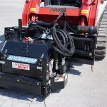Ready to mill with Blue Diamond high flow cold planer on skid steer track loader