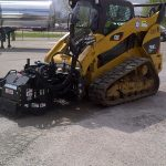 Milling with Blue Diamond skid steer cold planer