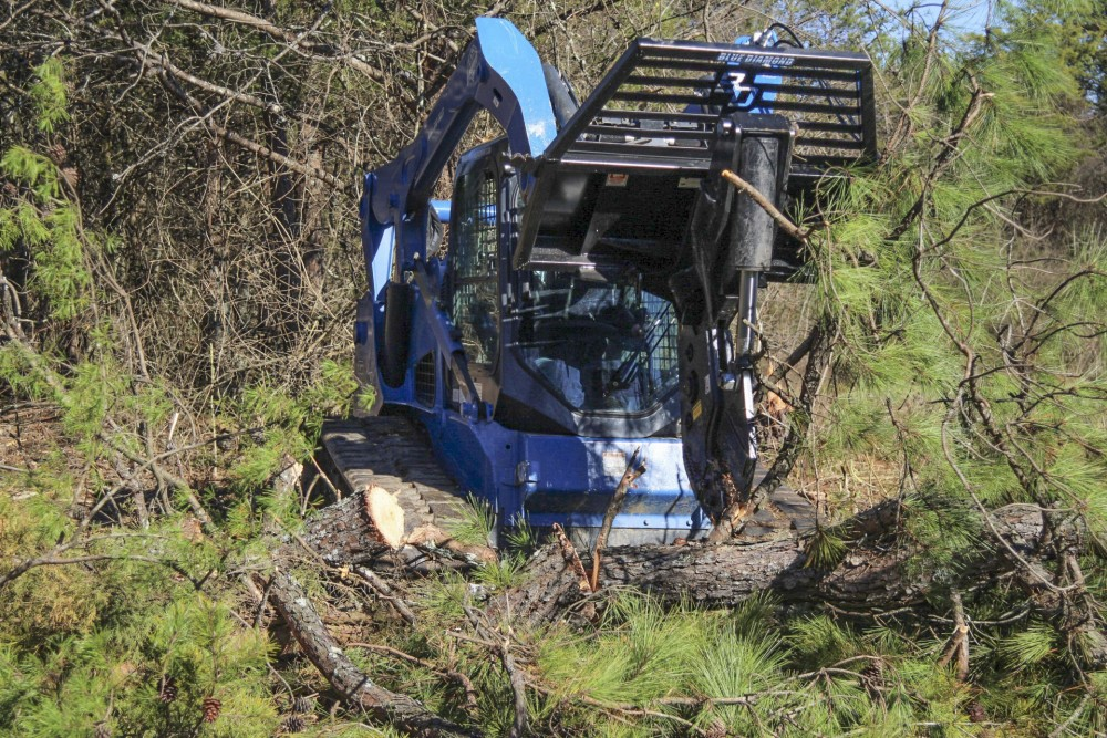 Skid Steer Tree Shear | Blue Diamond Attachments
