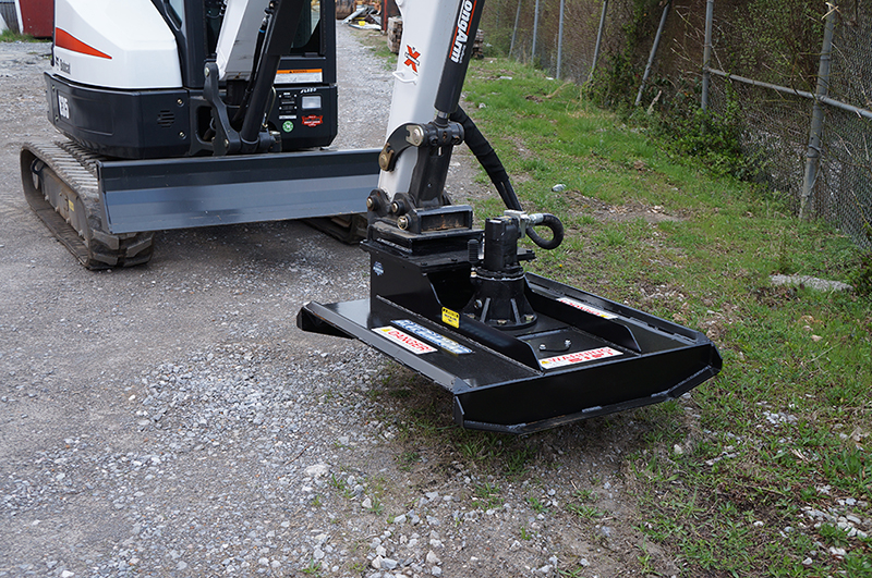 Mini Excavator Brush Cutter - Heavy Duty | Blue Diamond Attachments
