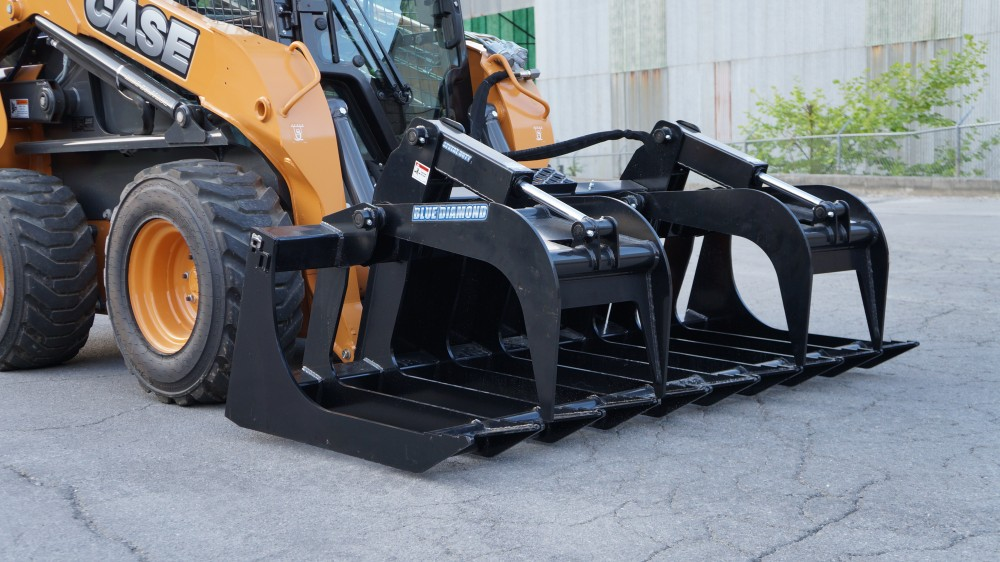 2019, Blue Diamond Attachments, ROOT GRAPPLE – SEVERE DUTY (106470), Skid Steers
