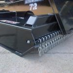 raised back on skid steer brush cutter, chain guard