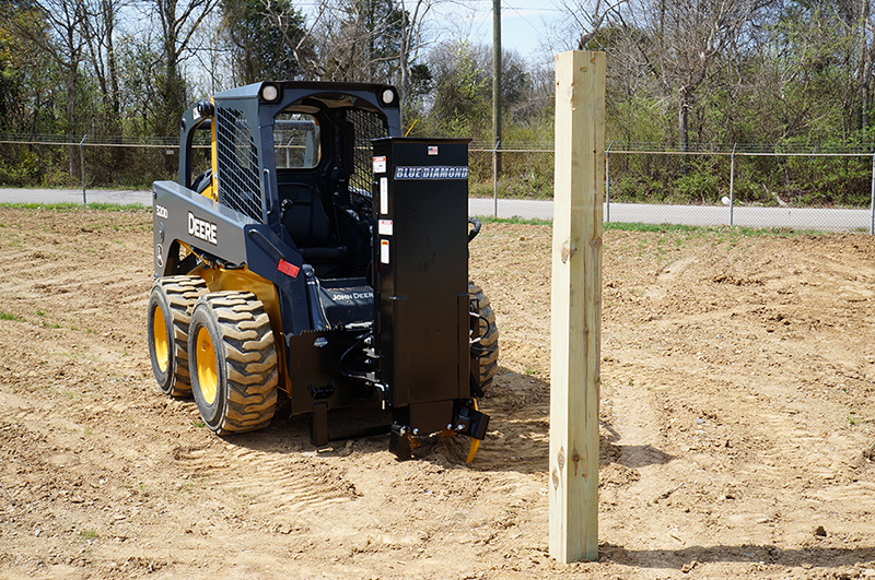 Skid Steer Post Driver | Blue Diamond Attachments