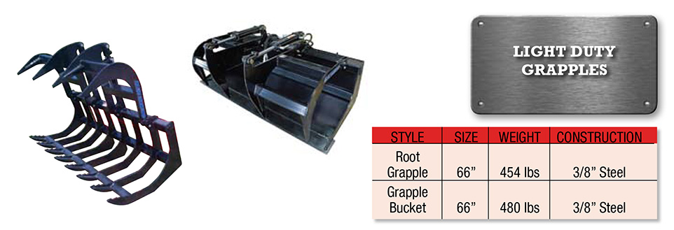 Light Duty Grapple Image & Features