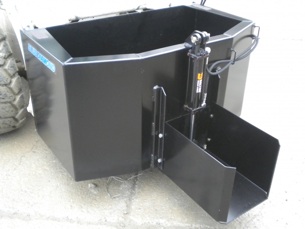 Skid Steer Concrete Bucket Dispensing Bucket Blue Diamond Attachments