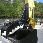 blue diamond excavator thumb