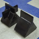 Skid steer log splitter wedge options