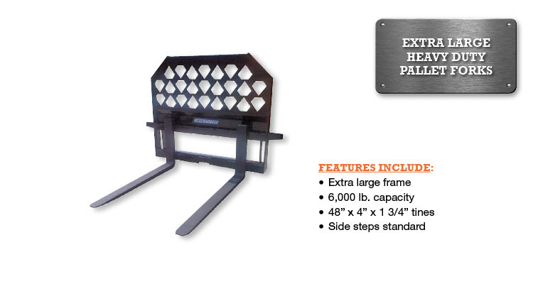 Pallet Fork – 6,000 Lbs. Capacity Extra Large HD Image & Features