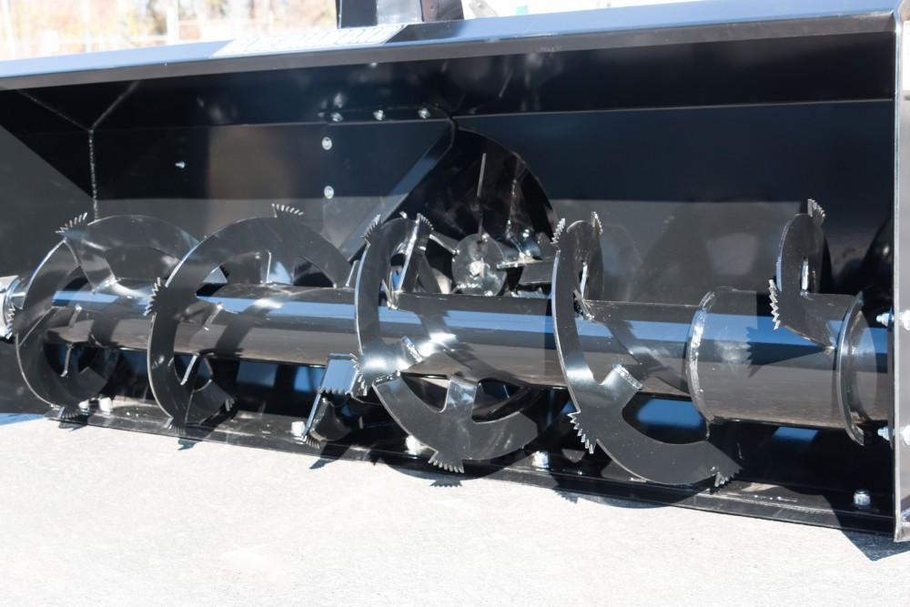 Skid Steer Snow Blower auger and fan view