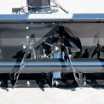 auger and fan view on snow blower