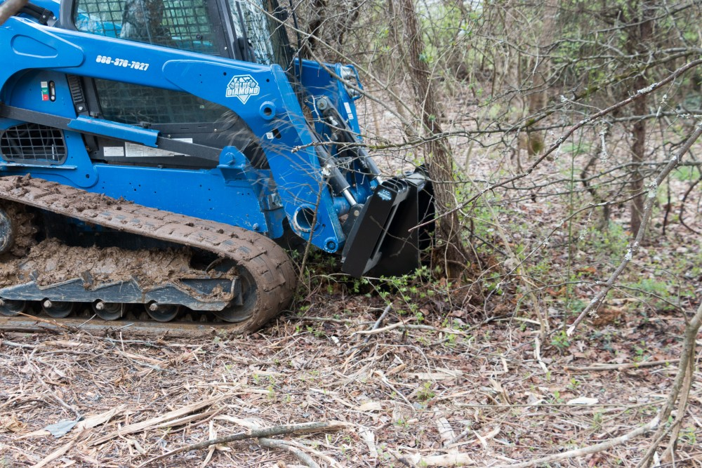 Tree Grubber for Skid Steers and Track Loaders   Blue