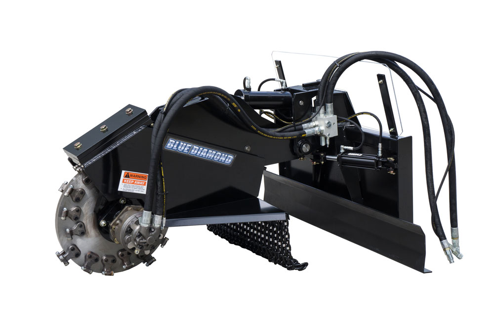 Swing Arm Stump Grinder Image & Features