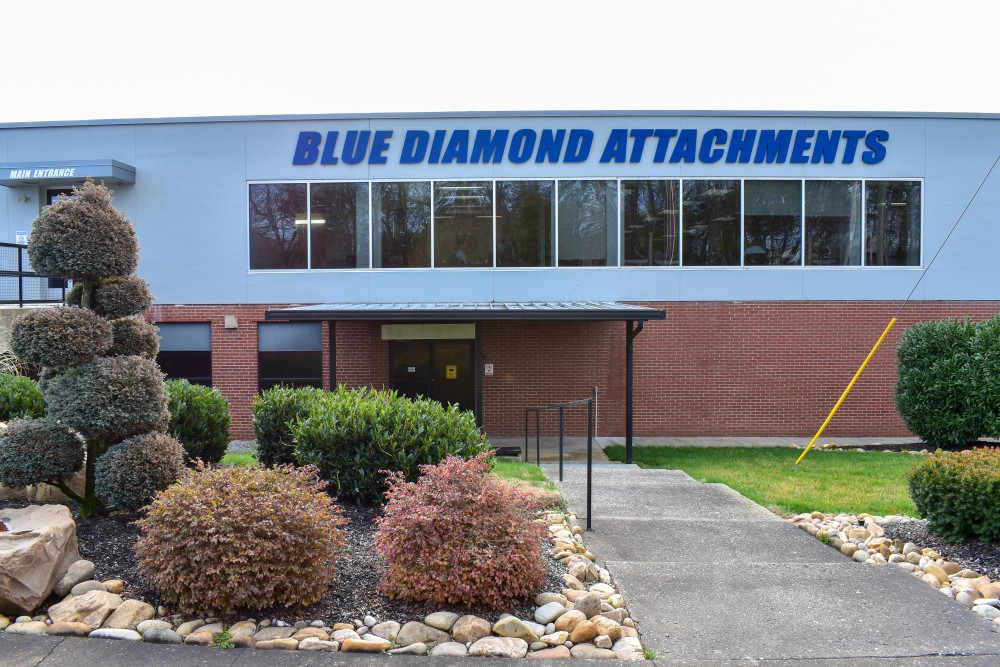 Blue Diamond Attachments Front of the Building
